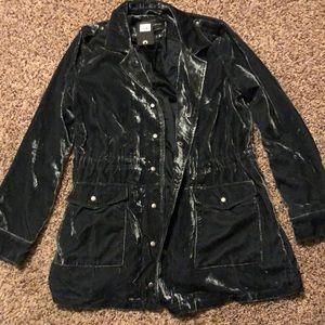 LUCKY BRAND Smoke gray velvet jacket